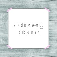 stationery album button