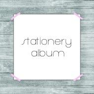 stationery album button
