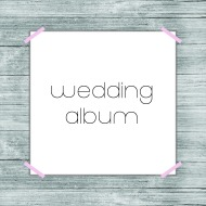 wedding album button