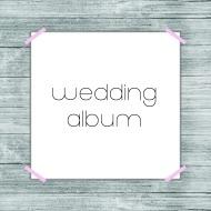 wedding album button